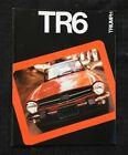 "1975 ""TRIUMPH TR6 CONVERTIBLE ROADSTER"" AUTOMOBILE SALES BROCHURE VERY GOOD"