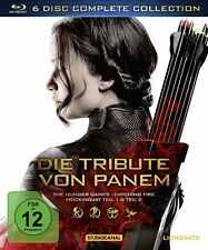 6 Blu-rays * DIE TRIBUTE VON PANEM - COMPLETE COLLECTION BOX # NEU OVP /
