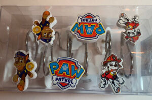 NEW Nickelodeon Dog PAW PATROL 12 Shower Curtain Hooks  Bathroom Decor Gift