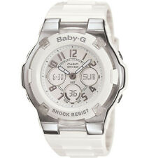 Casio Women's Watch Baby-G Slim Marine White and Brown Dial Strap BGA110-7B