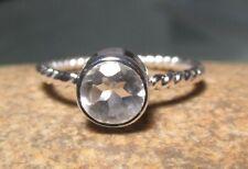 925 sterling silver everyday rock quartz ring UK K¾/US 5.75.