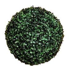 2 X Grass Ball Green Artificial Greenery 33CM Plastic Plant Garden Home Decor