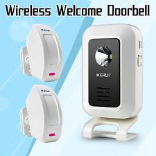 Wireless Door Bell Welcome Chime PIR Motion Sensor Alarm Entry Doorbell System