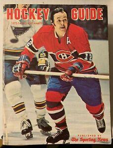 Vintage 1973-74 The Sporting News Pro & Amateur Natonal Hockey League Guide