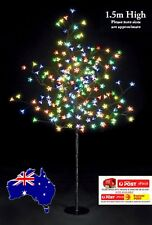 2x 1.5M 200LED MULITCOLORED CHERRY BLOSSOM SOLAR CHRISTMAS OUTDOOR TREE(2 TREES)