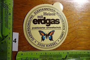 Alter Aufkleber Energie GASVERSORGUNG Südhannover-Nordhessen Ergas Kassel