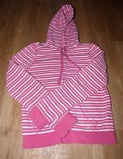 Womens Juniors American Eagle aerie Pink & White Striped Hoodie Size Medium Soft