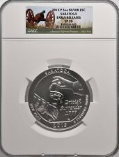 2015-P 5oz SILVER 25C Saratoga NGC SP 70 Early Releases perfect must see!