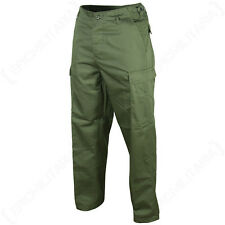 US Ranger BDU Trousers - Olive Green Cotton Combat Army Military Pants XS - 7XL
