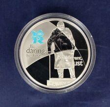 """2010 Plata Prueba £ 5 """"espíritu Series-coraje"""" en cápsula con certificado de autenticidad (L4/10)"""