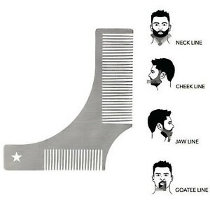 Men Beard Hair Combing Tool Fashion 3 Styles Small Pocket Travel Beard Hair Comb