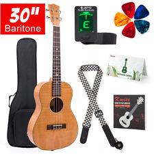 Kmise 4 String Baritone Ukulele 30 inch Okoume Ukelele Uke W/Guitar Strap Tuner