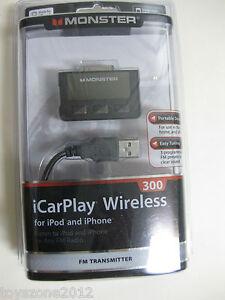 MONSTER iCarPlay Wireless 300 FM Transmitter FACTORY SEALED !!!