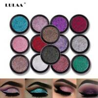 LULAA Cosmetic Glitter Eyeshadow Palette Shimmer Pigment Sparkly Makeup Tools