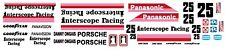 #25 Danny Ongais White Interscope Racing F1 1980 1/18th Scale Waterslide Decals