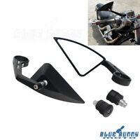 1 Pair 7/8 & 1 in Handlebar Bar End Triangle Rearview Side Mirrors For Chopper