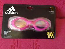 New Adidas Sand Dollar Goggle Swimming Anti Fog Junior Pink 100% Uv Protection