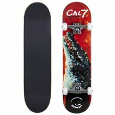 Pre-Owned Cal 7 Ravenous Crocodile Complete Skateboard Good Condition