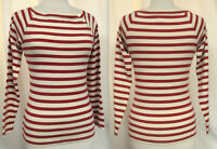 RALPH LAUREN Nautical Striped Pullover Long Raglan Sleeves Boat Neck  Sz S