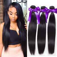 Brazilian Virgin Remy Human Hair Extensions Weave Straight 3 Bundle Weaving 150g