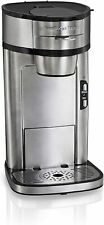 Scoop Single Serve Coffee Maker, Fast Brewing, Stainless Steel (49981A)