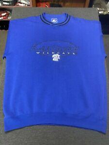 Vtg 90s STARTER University Of Kentucky Wildcats Sweatshirt Sz XL Embroidered