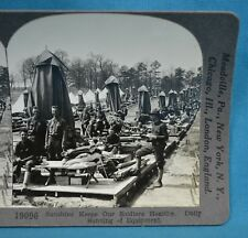 WW1 Stereoview Photo Sunshine Keeps Soldiers Healthy Sunning Equipment Keystone