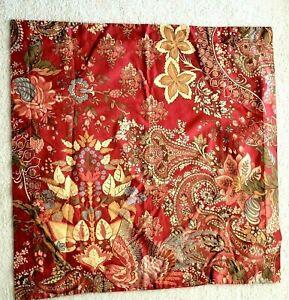 Pottery Barn CLARA Red Palampore Floral Paisley Bird EURO Pillow Sham Cover