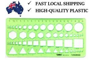 Multi-shape Geometric and Circle Template Ruler -Green Product in Australia