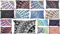 LARGE SELECTION Mandala Cotton Pillow Cushion Cover Indian Bed Pillow Sham Case