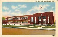 Mississippi, MS, Corinth, Corinth High School Linen Postcard