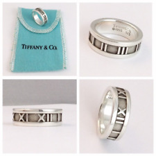 Stunning Rare Tiffany & Co Atlas Roman Numerals Ring UK size N