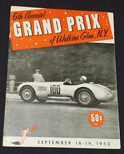 1953 - INTERNATIONAL SPORTS CAR GRAND PRIX WATKINS GLEN, NEW YORK, USA - PROGRAM