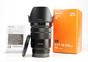 Sony  PZ 18-105mm G OSS F4 Zoom Lens Fits Sony E Mount +F/R Caps +Hood +Box  EXC