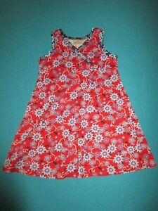 HANNA ANDERSSON Girls Red White Blue Dress Size 110
