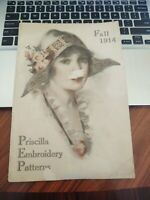 ANTIQUE PRISCILLA EMBROIDERY PATTERNS BOOKLET FALL 1914 - ADVERTISING SEWING