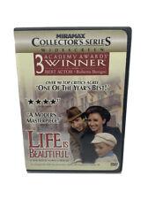 Life Is Beautiful (Dvd, 1999, Collectors Edition) Roberto Benigni