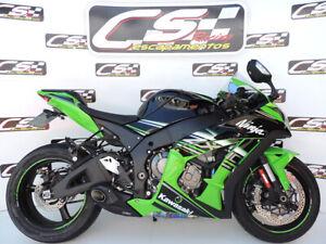 2016-2020 Kawasaki Ninja ZX-10R ZX10RR CS Racing Slip-on Exhaust Amazing Sound!