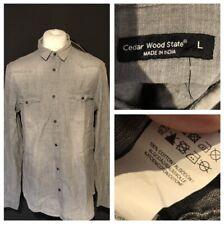 Cedarwood State Men's Shirt Grey Large Long Sleeve BNWT