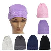 Women's Muslim Turban Beanie Hat Chemo Cancer Cap Hair Loss Head Scarf Hijab
