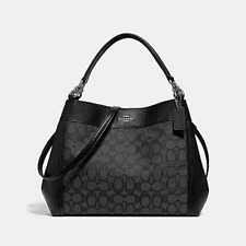 NWT Coach Small Lexy Shoulder Bag Signature Jacquard & Leather F29548 $325