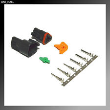 Deutsch DT 3-Pin Genuine Black Connector Kit 14-16AWG Stamped Contacts, USA