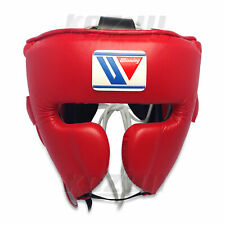 Winning Boxing Headgear FG-2900 Red Face Guard Design M size New from Japan F/S