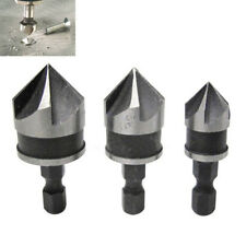 3 x Hex Countersink Boring Bore Quick Change Drill Bit Tool Set for Wood Metal
