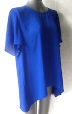 Jendi Cobalt Blue TunicTop, Short Sleeves, Size 16 NWT