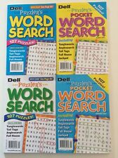 Lot of 4 Puzzlers Word Search Dell Penny Press $15.16 retail Tanglewords Numbers