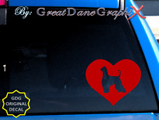 Afghan Hound in Heart -Vinyl Decal Sticker -Color Choice -High Quality