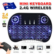 Backlight Mini i8 Air Mouse Wireless Keyboard 2.4G With Touchpad For TV Box Pad