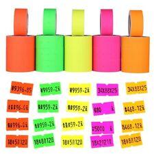 500pc/roll Colorful Price Label Paper Tag Mark Sticker For Mx-5500 Labeller Gun