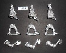 Warhammer Citadel Metal Caballeros del imperio Panther pie Caballero X3 1989 D 779